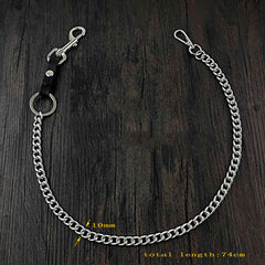 Hook Silver Punk Pants Chain Fashion Wallet Chain Biker Waist Wallet Chain For Men