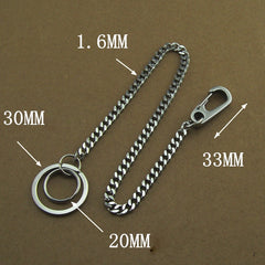 304 Solid Stainless Steel 15inch Wallet Chain Cool Punk Rock Biker Trucker Wallet Chain Trucker Wallet Chain for Men