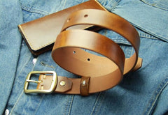 Handmade Vintage Leather Mens Belt Leather Belt for Men
