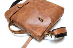 Vintage Mens Leather Briefcase Handbag Shoulder Bag Backpack for men