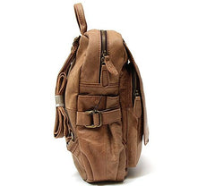 Leather Camel Mens Backpack Cool Travel Backpacks Laptop Backpack for men