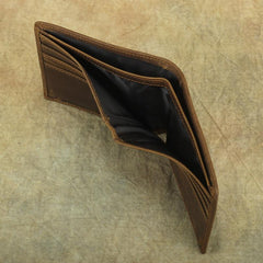 Bifold Leather Mens Slim Wallet Small Wallet billfold Wallet Front Pocket Wallet for Men