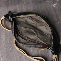 Top Leather Fanny Pack Men's Black Chest Bag Hip Bag Black Best Waist Bag For Men 2020