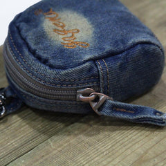 Denim Jean Womens Mens Mobile Bag Wristlet Bags Jean Blue Clutch Purse For Women