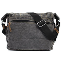 Cool Canvas Black Mens 13 inches Messenger Bag Side Bag Green Postman Bag Courier Bag For Men