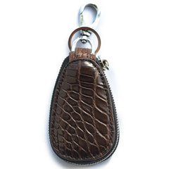 Crocodile Leather Mens Audi Volkswagen Toyota Car Key Case Car Key Holder with Belt Loop For Men