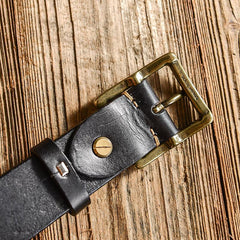 Casual Handmade Leather Simple Leather Belts Mens Black Belts Men Brown Leather Belt for Men