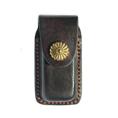 Cool Handmade Leather Mens Dunhill Lighter Case Lighter Holder with Belt Loop For Men