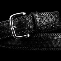 Handmade Black Leather Mens Belt Custom Cool Leather Men Belt for Men