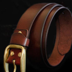 Handmade Genuine Custom Leather Mens Leather Men Brown Black Belt