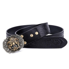 Handmade Genuine Custom Cool Leather Mens Leather Men Black Belt for Men