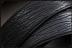 Handmade Black  Leather Mens Belts Black Cool Leather Men Black Belt for Men