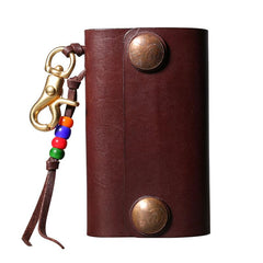 Handmade Leather Mens Cool Key Wallet Car Key Card Holder Car Key Case for Men