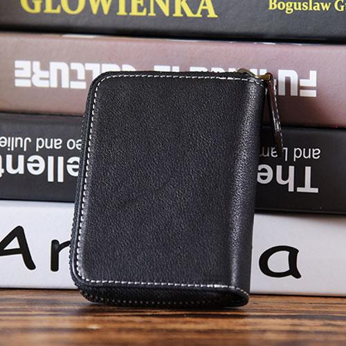 9b7bfe4a2816 Handmade Mens Cool Short Leather Wallet Men Small Card Wallets ...