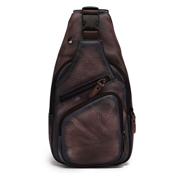 Cool Leather Chest Bag Sling Bag Sling Crossbody Bag Sling Travel Bags Sling Hiking Bag For Men