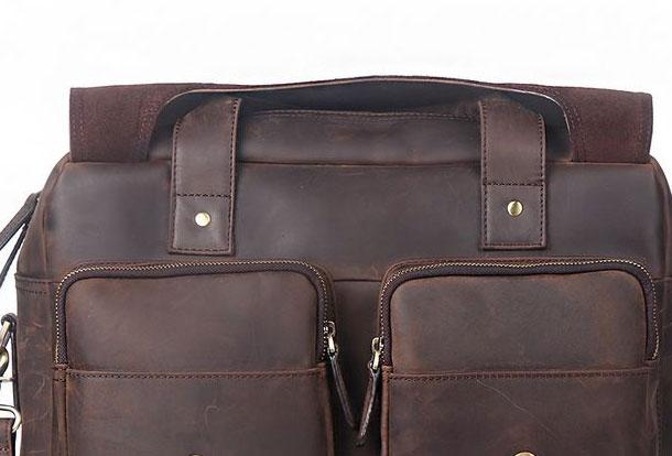 76f5e400d92b GENUINE LEATHER MENS COOL MESSENGER BAG BRIEFCASE WORK BAG BUSINESS BAG FOR  MEN