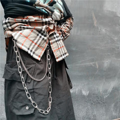 Badass Double Mens Silver Long Wallet CHain Pants Chain Jeans Chain Jean Chain For Men