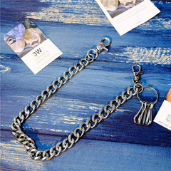 Badass Men's Silver Long Key Chain Wallet Chain Pants Chain Biker Wallet Chain For Men
