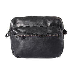 Fashion Simple Black Small Leather Men Side Bag Tan Messenger Bag Courier Bag For Men
