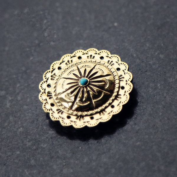 Brass Wallet Conchos Hollow Turquoise Conchos Button Gold Conchos Screw Back Decorate Concho Hollow Star Biker Wallet Concho