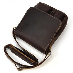 Cool Coffee LEATHER MENS 10 inches Vertical iPAD BAG COURIER BAG Brown MESSENGER BAG FOR MEN