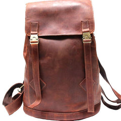 Cool Coffee Mens Leather Backpacks Travel Backpacks Laptop Backpack for men
