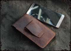 Cool Handmade Coffee Leather Mens Holster 6