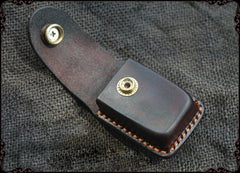 Cool Handmade Leather Mens Cartier Lighter Case Lighter Holder with Belt Loop For Men