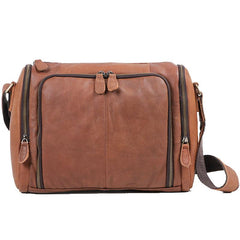 Cool Leather Brown Mens Messenger Bags Vintage Shoulder Bag  for Men