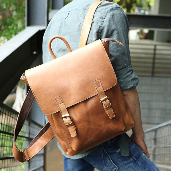 bd2942c809ae competitive price a8fd6 e3ed3 Cool Leather Mens Backpack Travel Backpack  Laptop Backpack for men  finest selection 40648 399fd The Best Mens Bags ...