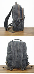 Denim Blue Mens 16 inches Backpack Multifunctional Backpack Jean Travel Backpack For Men