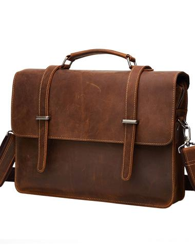 Leather Vintage Mens Briefcases Lawyer Briefcase Laptop Briefcase Business Briefcase For Men