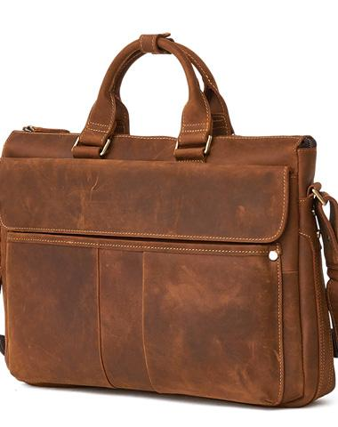 LEATHER MENS BRIEFCASE Vintage WORK BAG BUSINESS BAG FOR MEN