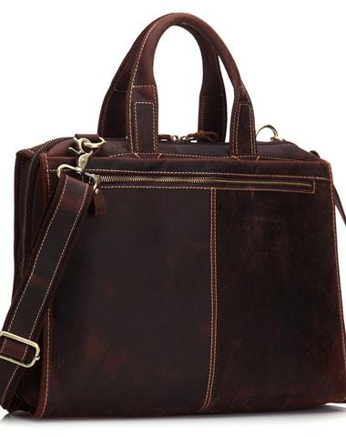 Vintage Leather Men Briefcase Work Bag Business Bag Laptop Bag For Men