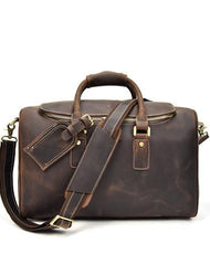Cool Vintage Leather Mens Overnight Bag Weekender Bag Travel Bag Duffle Bag