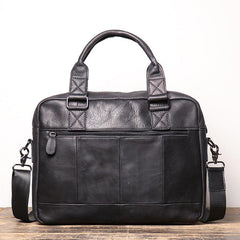 Fashion Leather Mens  Black Laptop Work Bag Handbag Black Briefcase Shoulder Bags Business Bags For Men