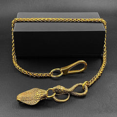 Cool Brass Snake Mens 18'' Pants Chain Wallet Chain Gold Motorcycle Wallet Chain for Men