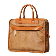 Genuine Leather Mens Briefcase Work Bag Laptop Bag Business Bag for Men