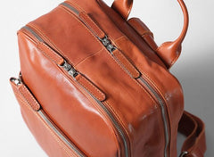 Genuine Leather Mens Cool Backpack Large Travel Bag Hiking Bag for Men