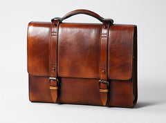 Genuine Leather Mens Cool Large Briefcase Work Bag Business Bag Laptop Bag for men