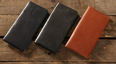 Genuine Leather Mens Soft Cool Long Leather Wallet Men Card Wallet Bifold for Men