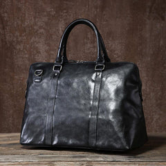 Genuine Leather Mens Travel Bag Cool Messenger Bag Shoulder Bag Handbag Weekender Bag for Men