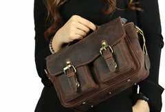 Genuine Leather Small Messenger Bag Camera Bag Camera Shoulder Bag For Men