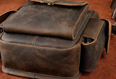 Cool Mens Leather Drop Leg Bag Waist Bag Belt Bag Belt Pouch Small Side Bag For Men