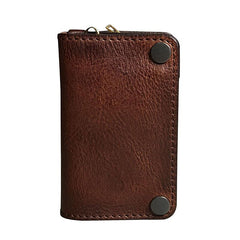 Vintage Genuine Leather Mens Cool Key Wallet Car Key Holder Card Holder for Men