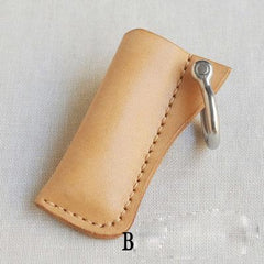 Handmade Bic j3 Leather Lighter Case Beige Leather Bic j3 Lighter Holder Leather Bic j3 Lighter Covers For Men