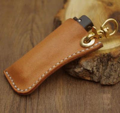 Handmade Bic j3 Leather Lighter Case Leather Bic j3 Lighter Holders Beige Leather Bic j3 Lighter Covers For Men