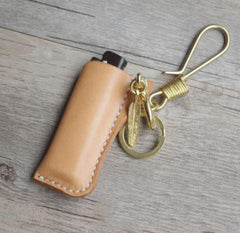 Bic j3 Leather Lighter Case Leather Bic j3 Lighter Holders Handmade Tan Leather Bic j3 Lighter Covers For Men