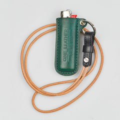 Handmade Black Leather Bic Lighter Cases Leather Bic Lighter Holder with strap Leather Lighter Covers For Men