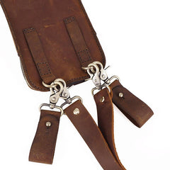 Handmade LEATHER MEN Belt Pouch Waist BAG MIni Side Bag Brown Belt Bag FOR MEN